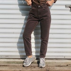 🌐Vintage Lee Riveted Brown 100% cotton jeans